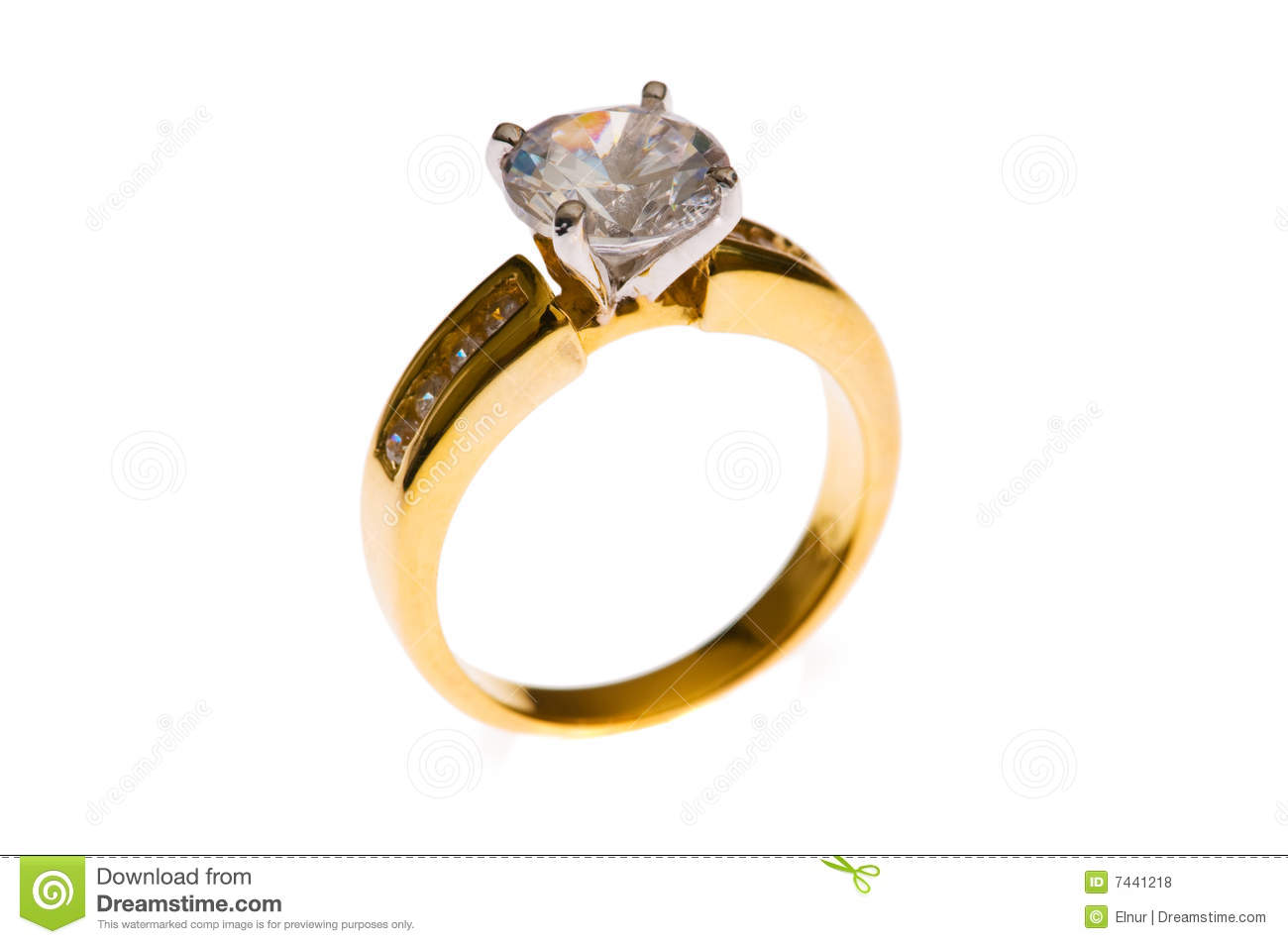 Golden ring isolated