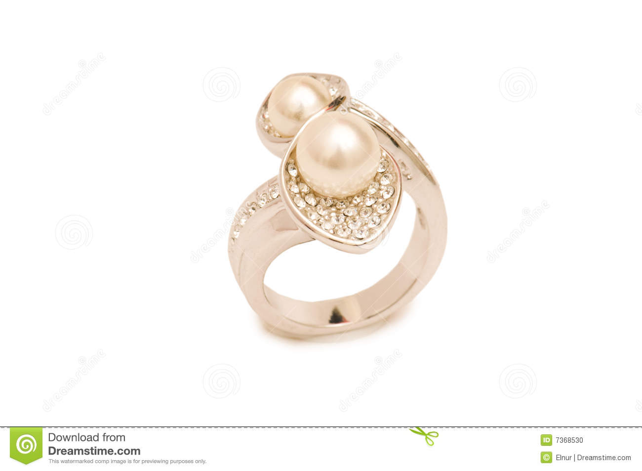 Golden Ring Isolated Ckground Stock Photo