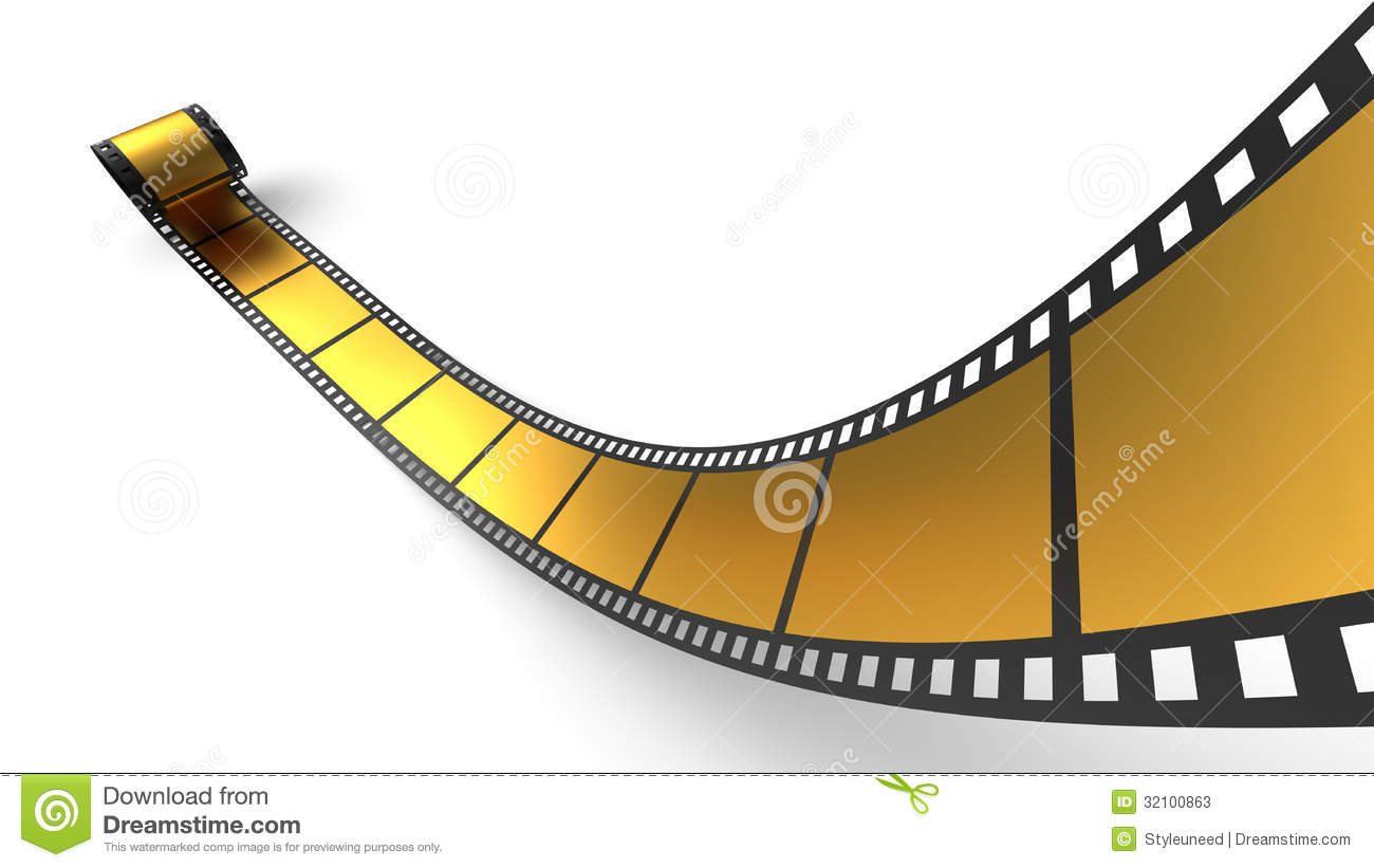 Golden Roll Of Negative Film Stock Photos  Image: 32100863