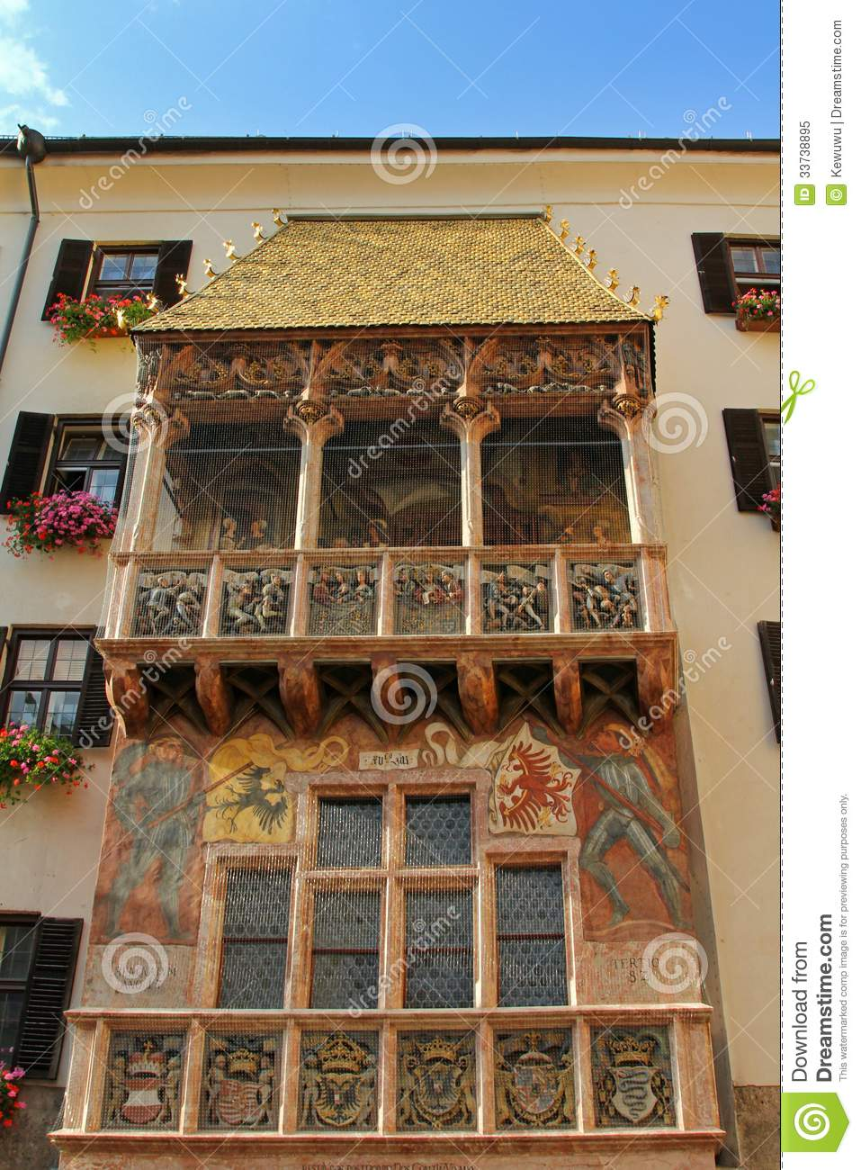 austria dachl famous golden goldenes innsbruck maximilian roof ... & Golden Roof (Goldenes Dachl) Royalty Free Stock Photo - Image ... memphite.com
