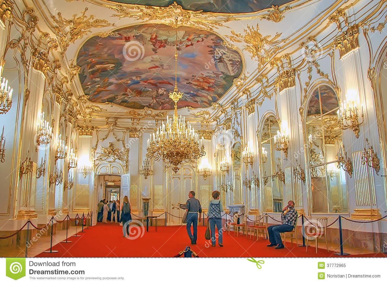 Golden Room The Schonbrunn Palace Editorial Image Image 37772965