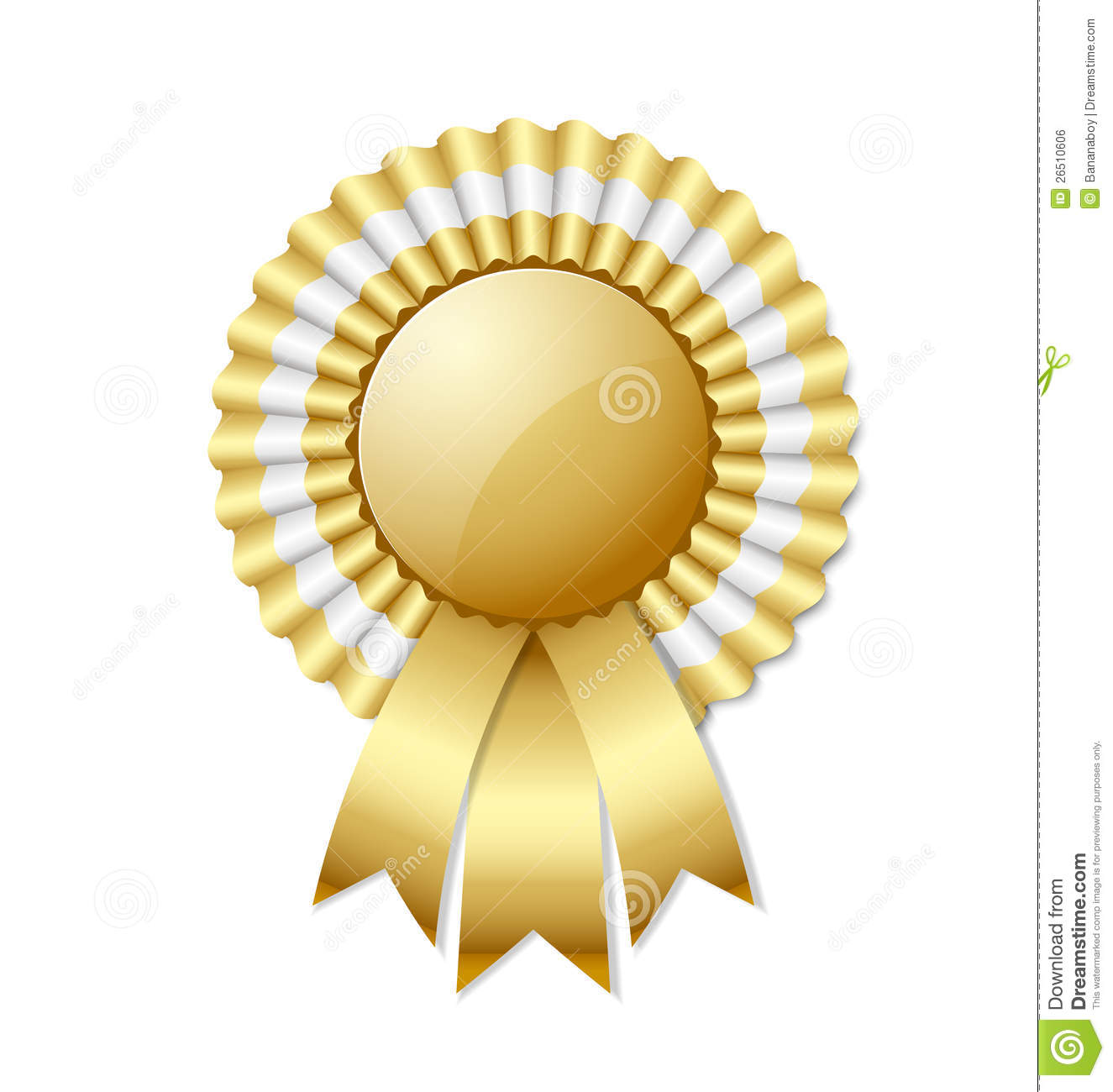 Golden Rosette Royalty Free Stock Image - Image: 26510606