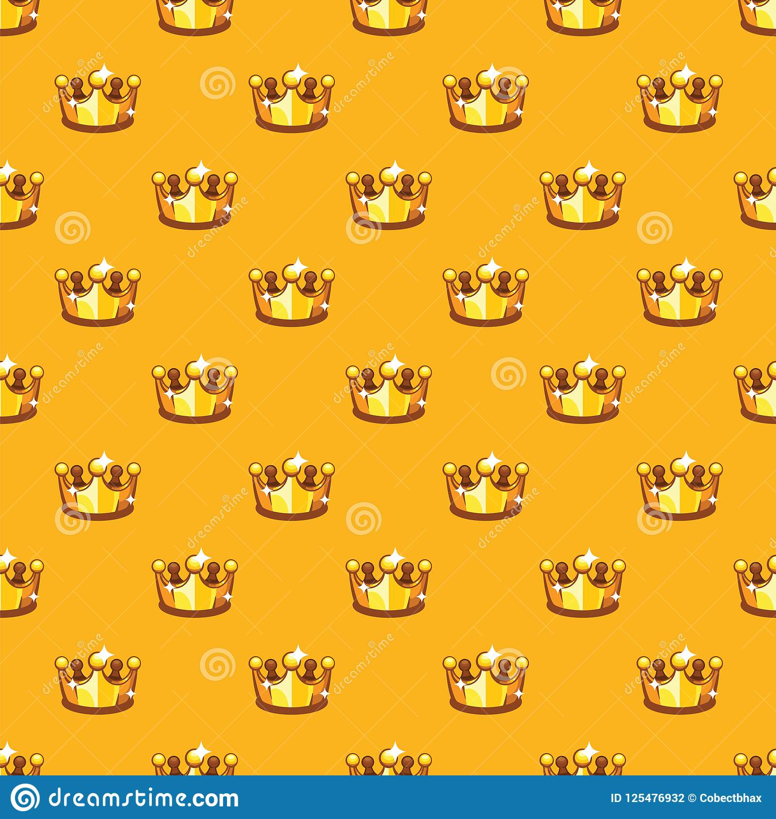 golden royal crown pattern background king and queen crown seamless
