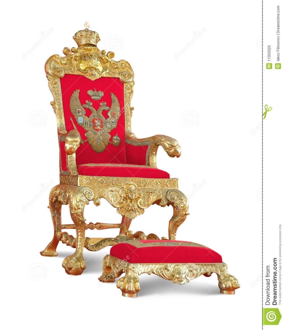 Golden Royalty S Throne Isolated With Path Royalty Free