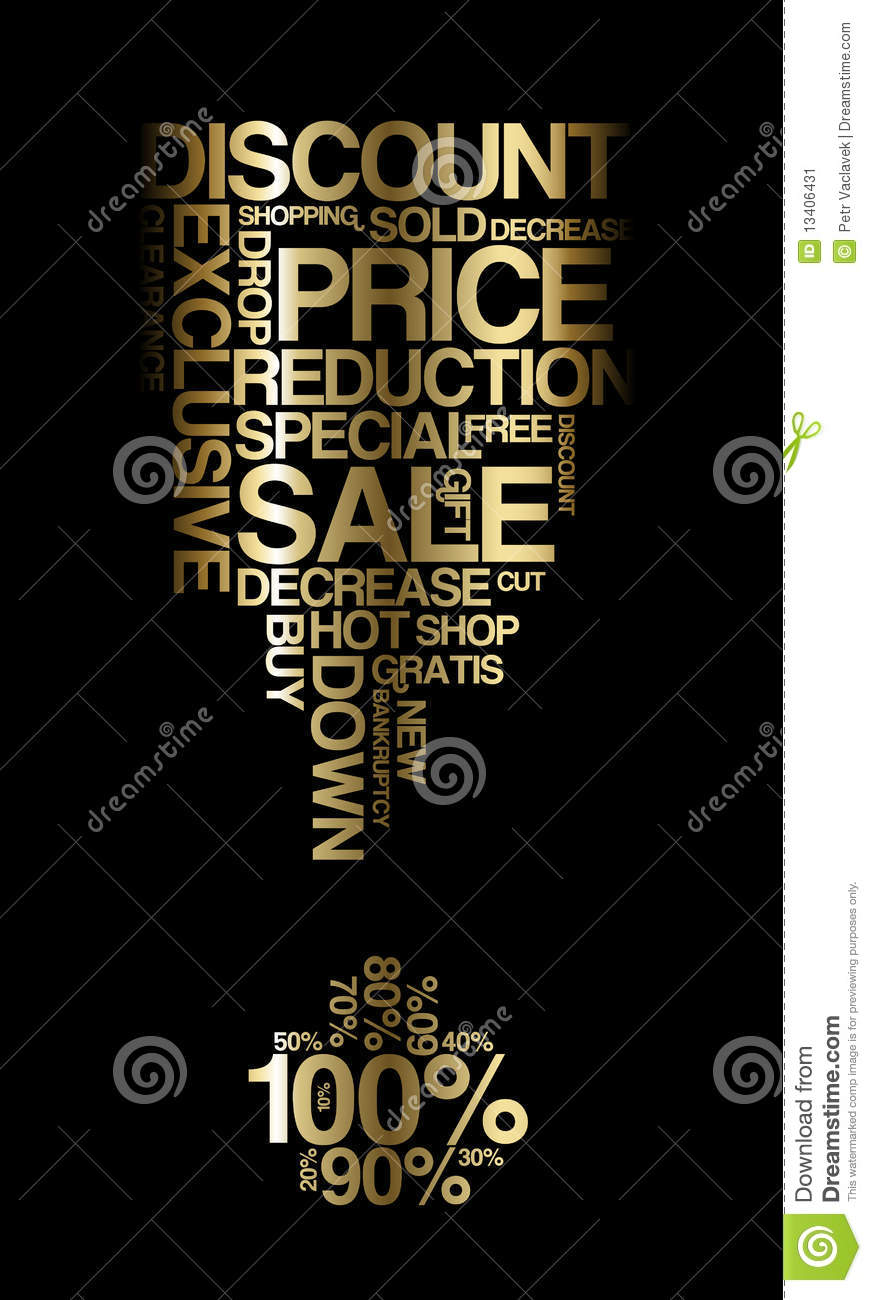 Golden sale discount poster stock image image 13406431 for Cheap prints and posters