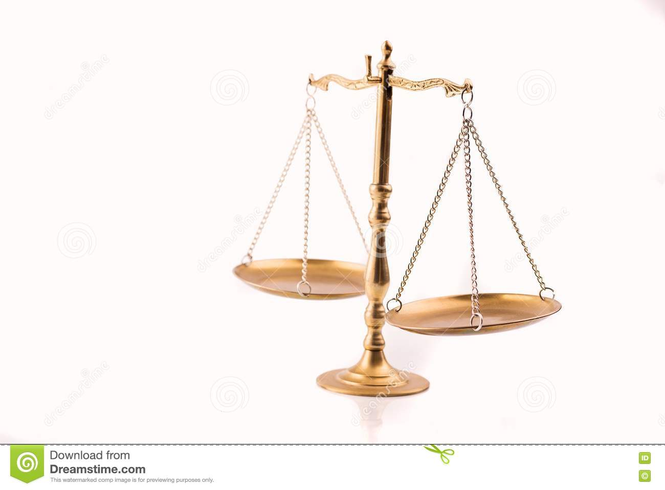 Golden Scales Of Justice The Symbol Of Law Stock Image Image Of