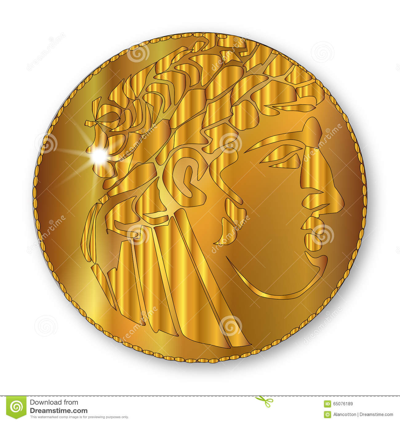Golden Shekel stock illustration  Illustration of drawing - 65076189