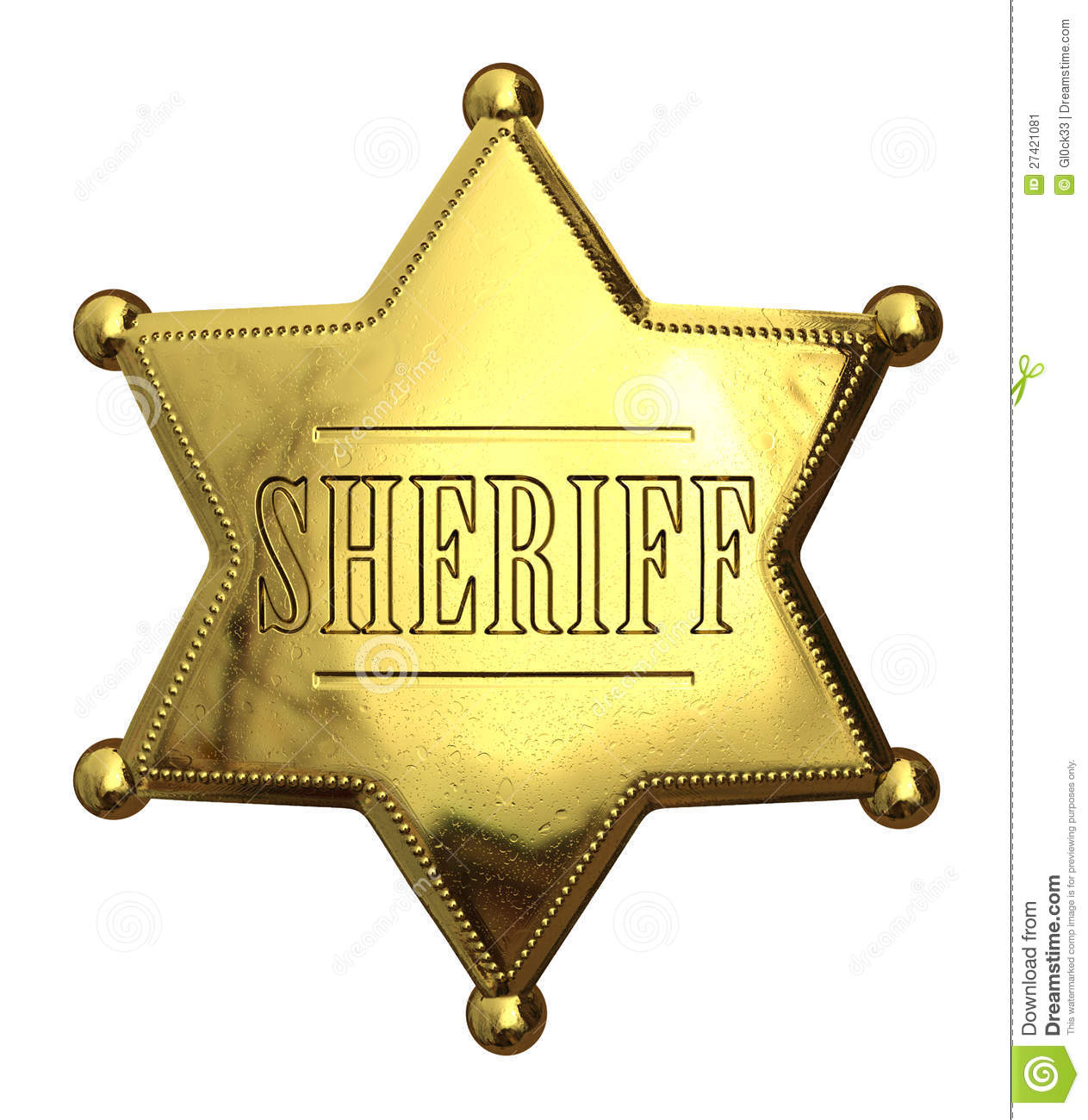 More similar stock images of ` Golden sheriff s badge `