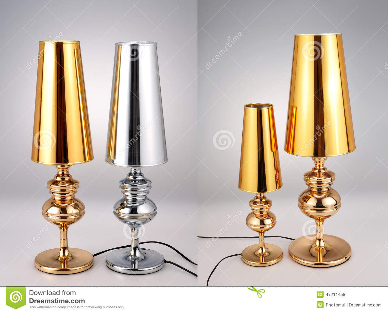 Golden And Silver Table LampsLuxury Table Lights Stock
