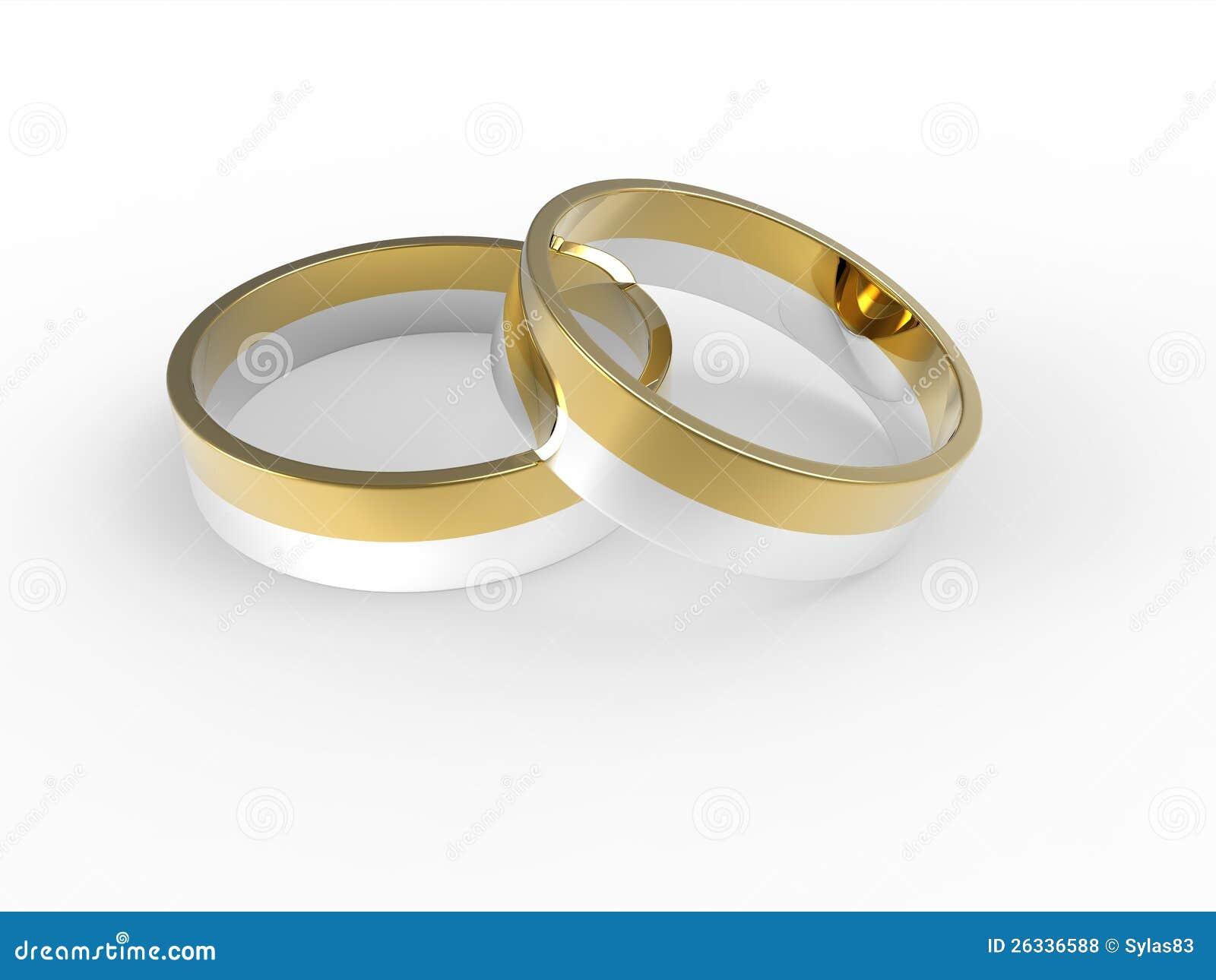 Golden And Silver Wedding Rings Stock Illustration Illustration of