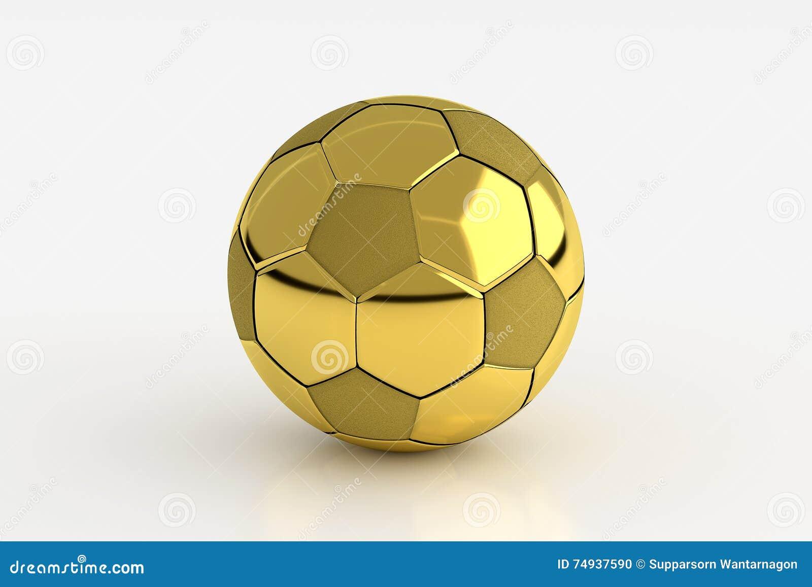 feea3fd85 3D rendering of golden soccer ball isolated on white background. More  similar stock illustrations