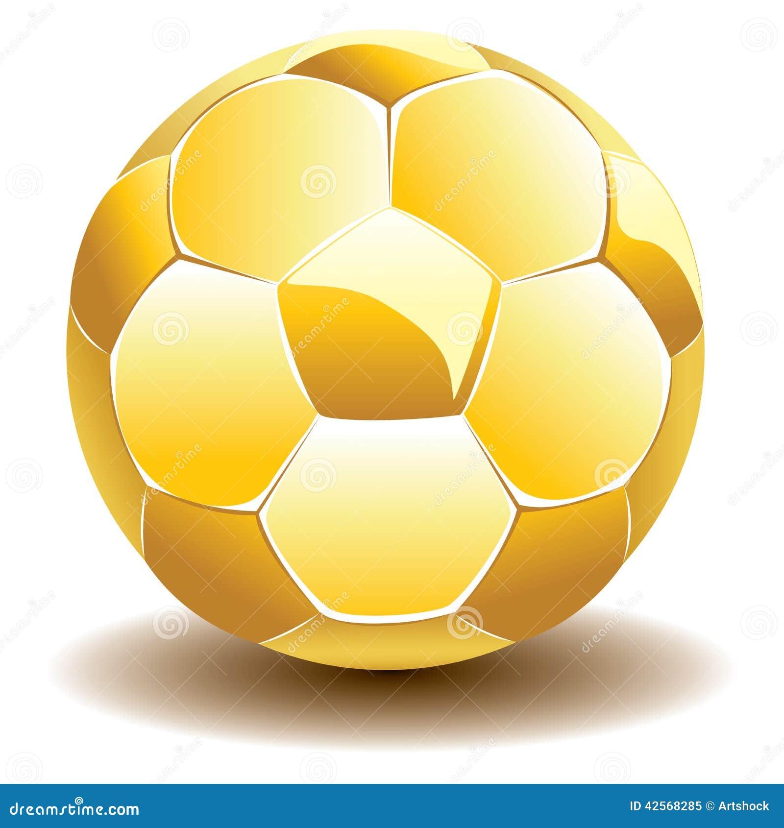 0e4aa43c8 Golden Soccer Ball stock vector. Illustration of soccer - 42568285