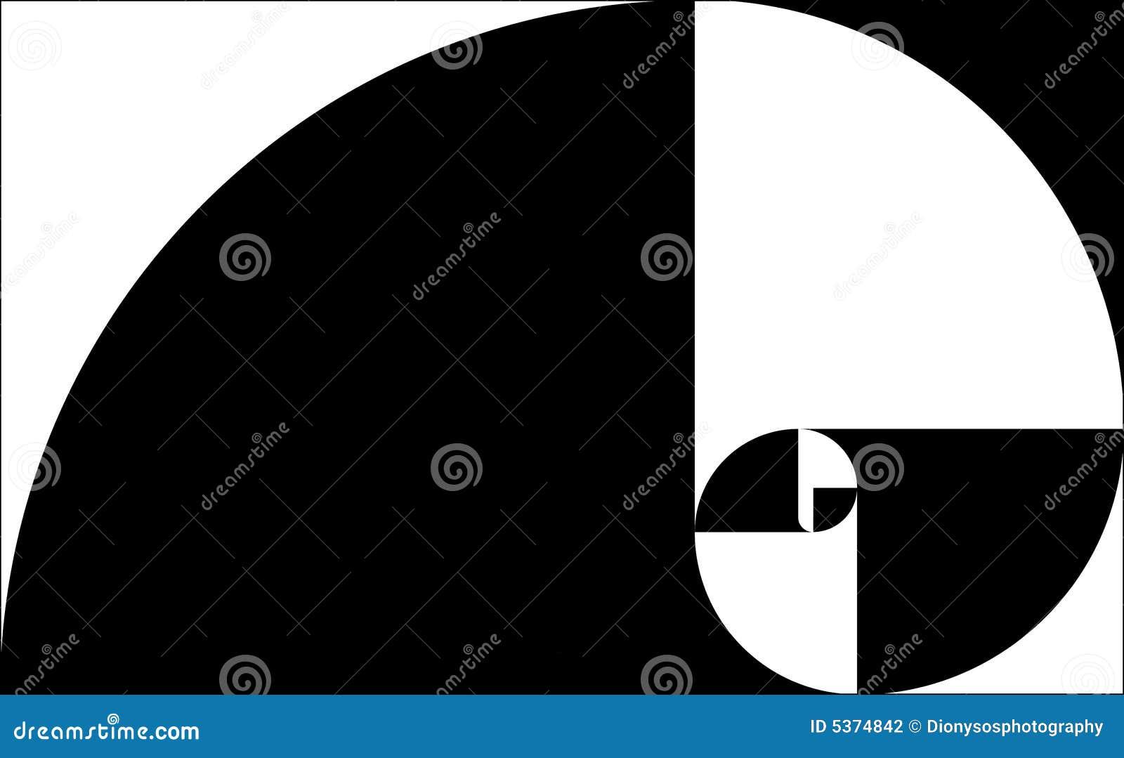 golden spiral black stock illustration  image of rectangle