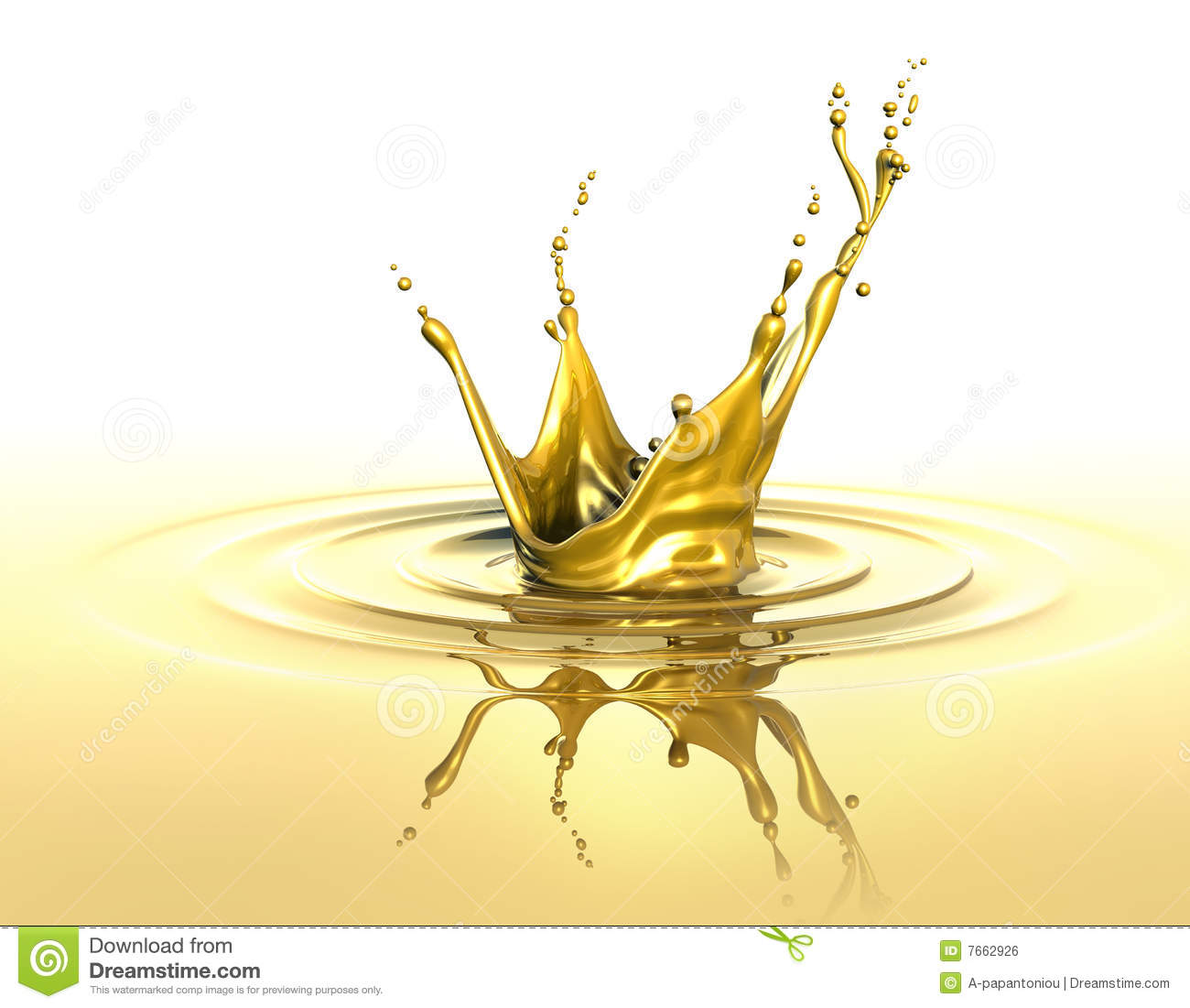 Golden Splash Royalty Free Stock Image - Image: 7662926