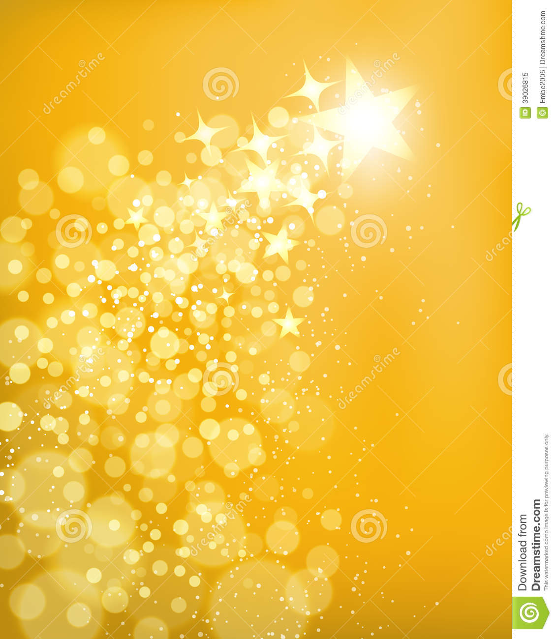 Golden Star Background Stock Vector - Image: 39026815