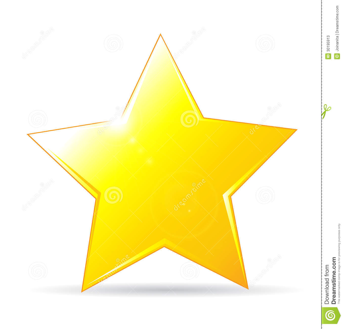 golden star icon on wh...