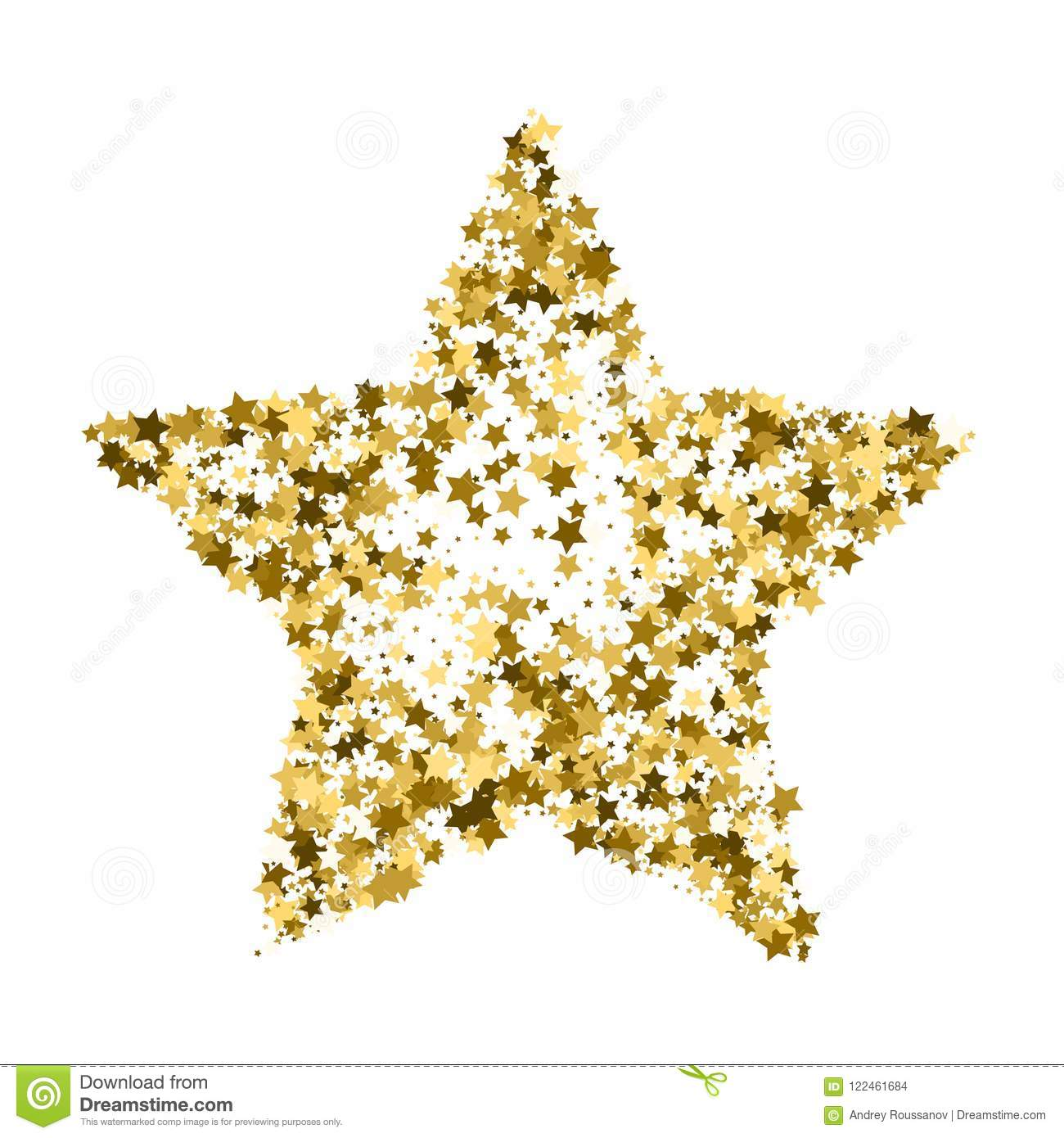 Golden Star Vector Banner Simple Form Template Card Vip Ex