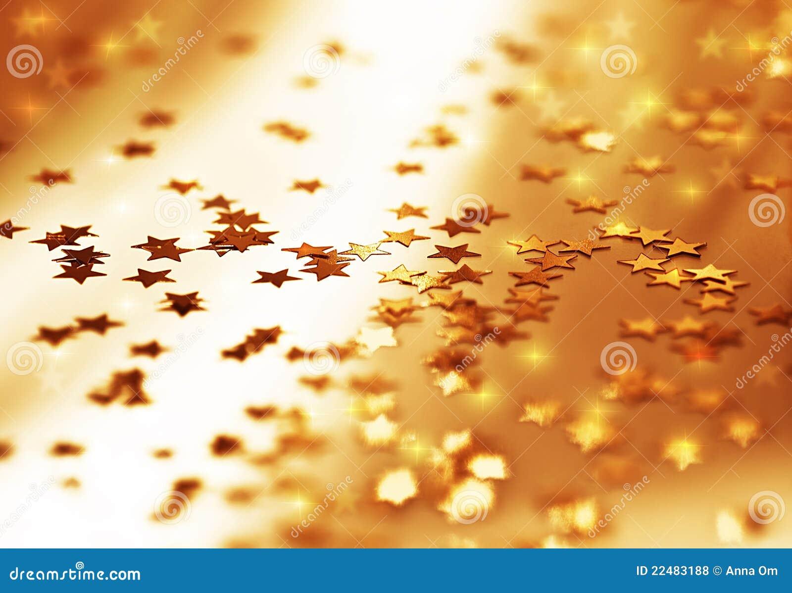 Golden stars backgroun...