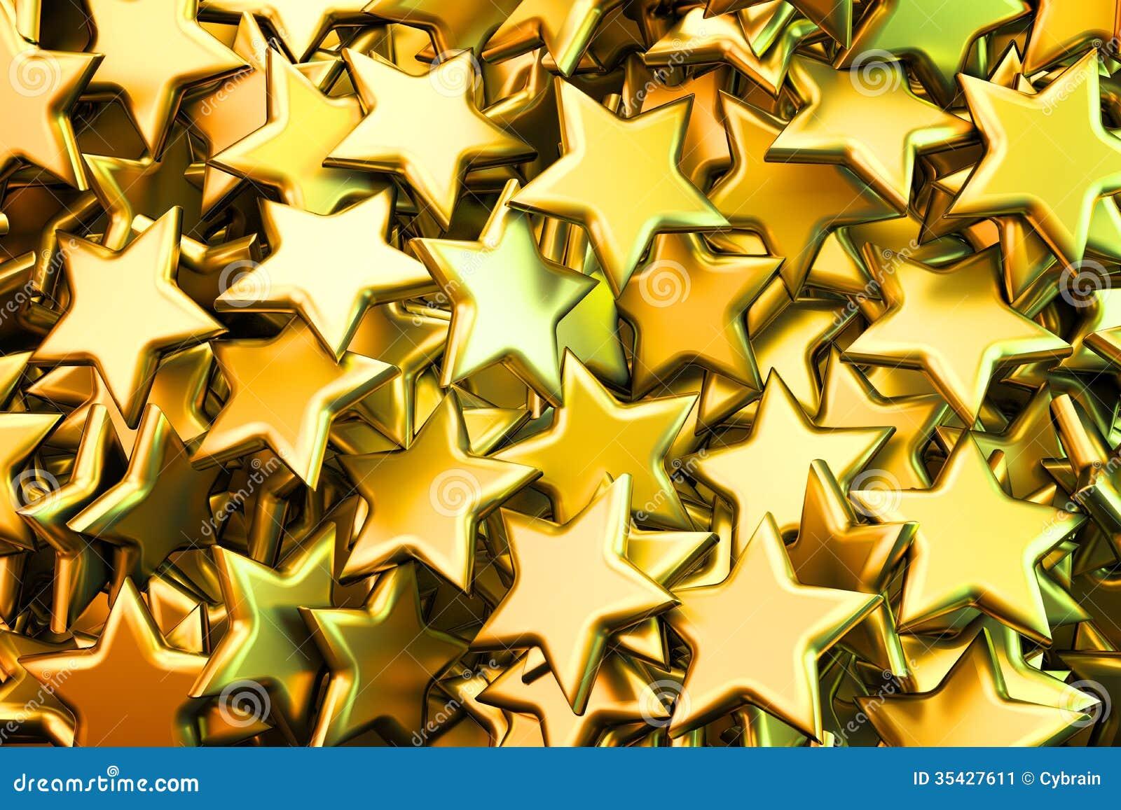 Shiny golden stars bac...
