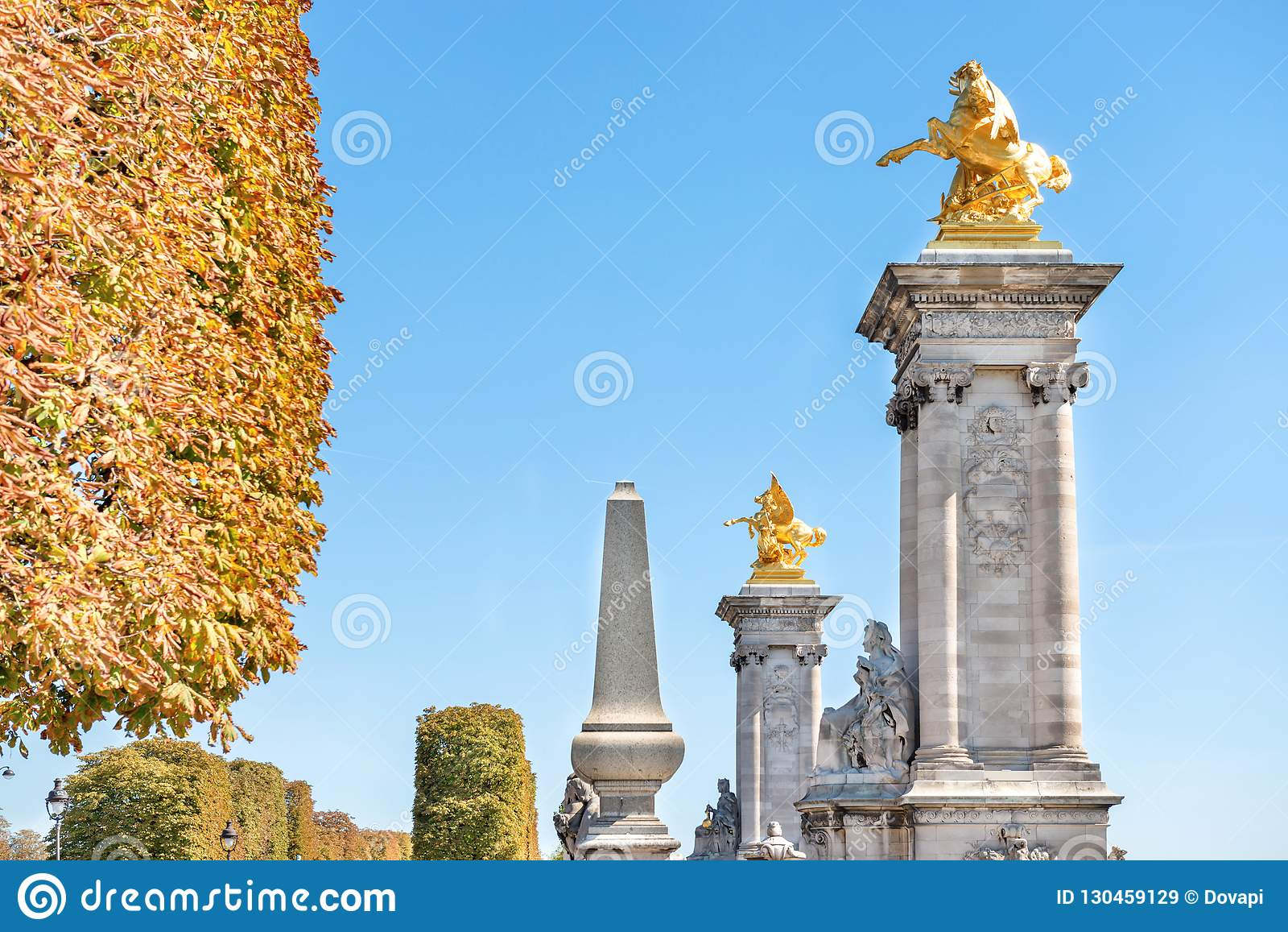Paris - Gold Statue From Alexandre III Bridge Stock Photo