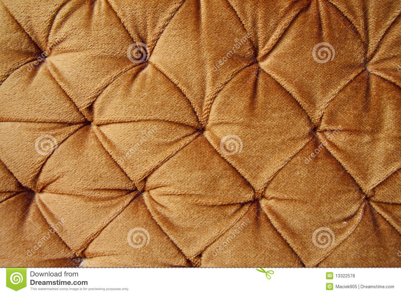 golden stylish fabric with knobs