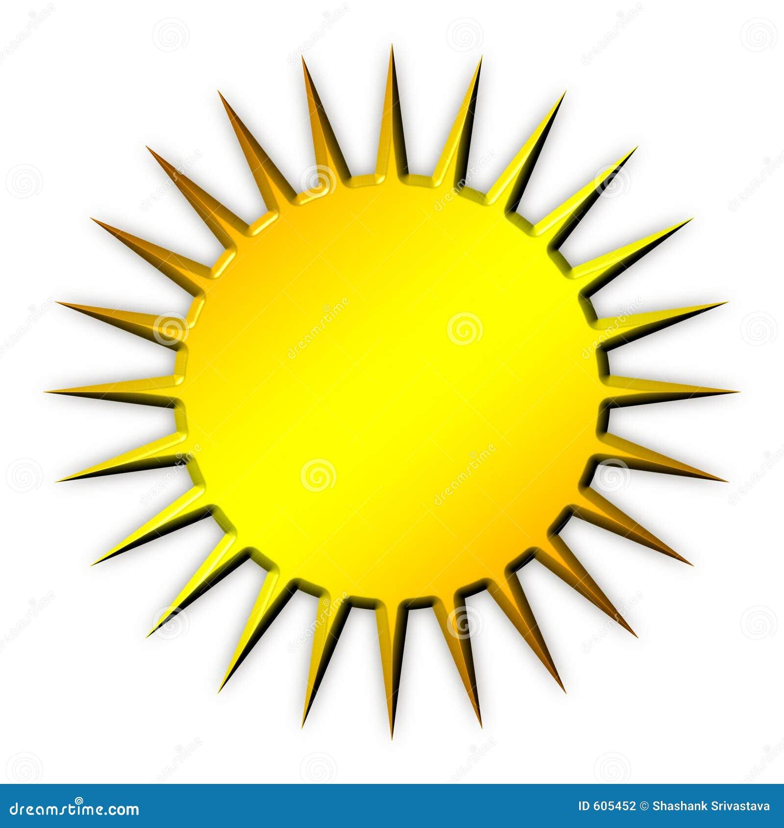 Golden Sun Icon Stock ...
