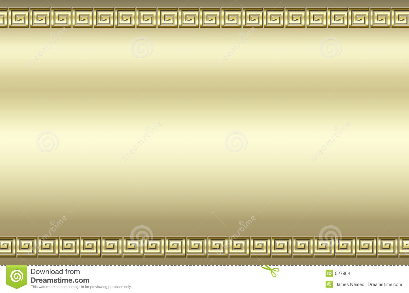 ... with a raised square swirl border that resembles a Greek key pattern