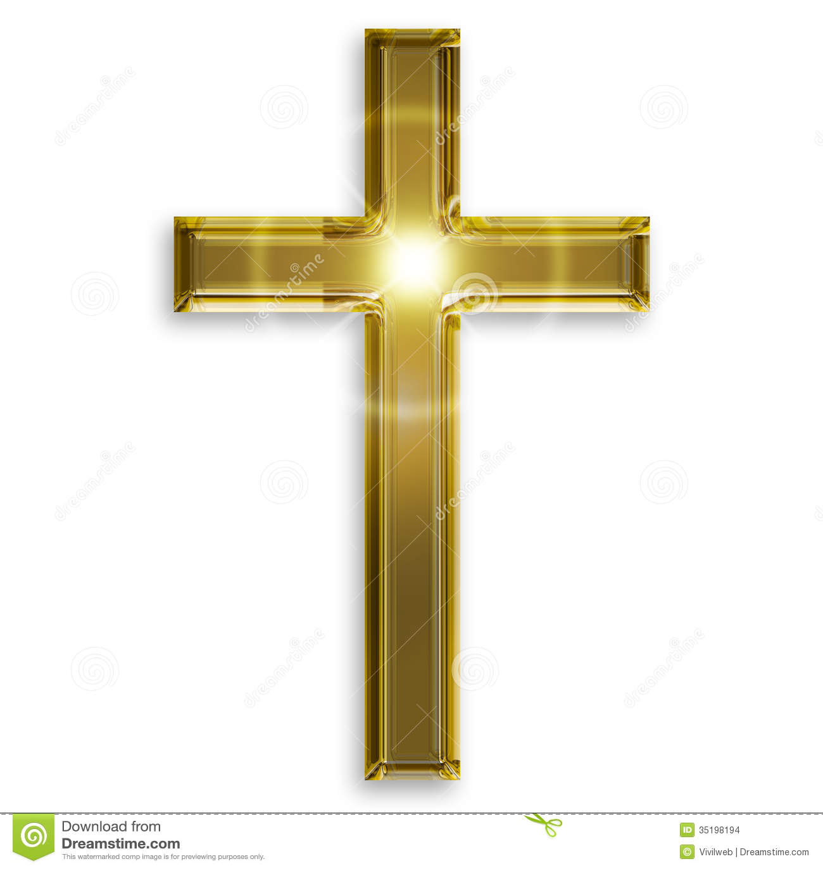 Golden Symbol Of Crucifix Stock Images - Image: 35198194