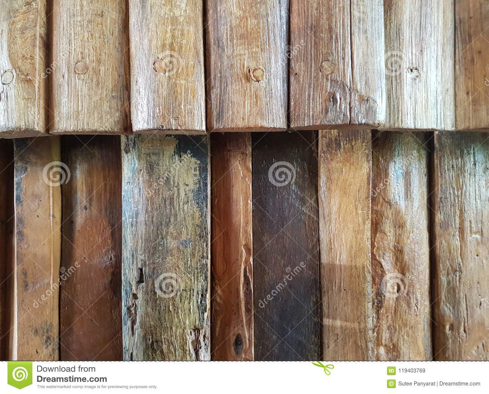 Golden Teak Wood Stock Image Image Of Grunge Ratro 119403769