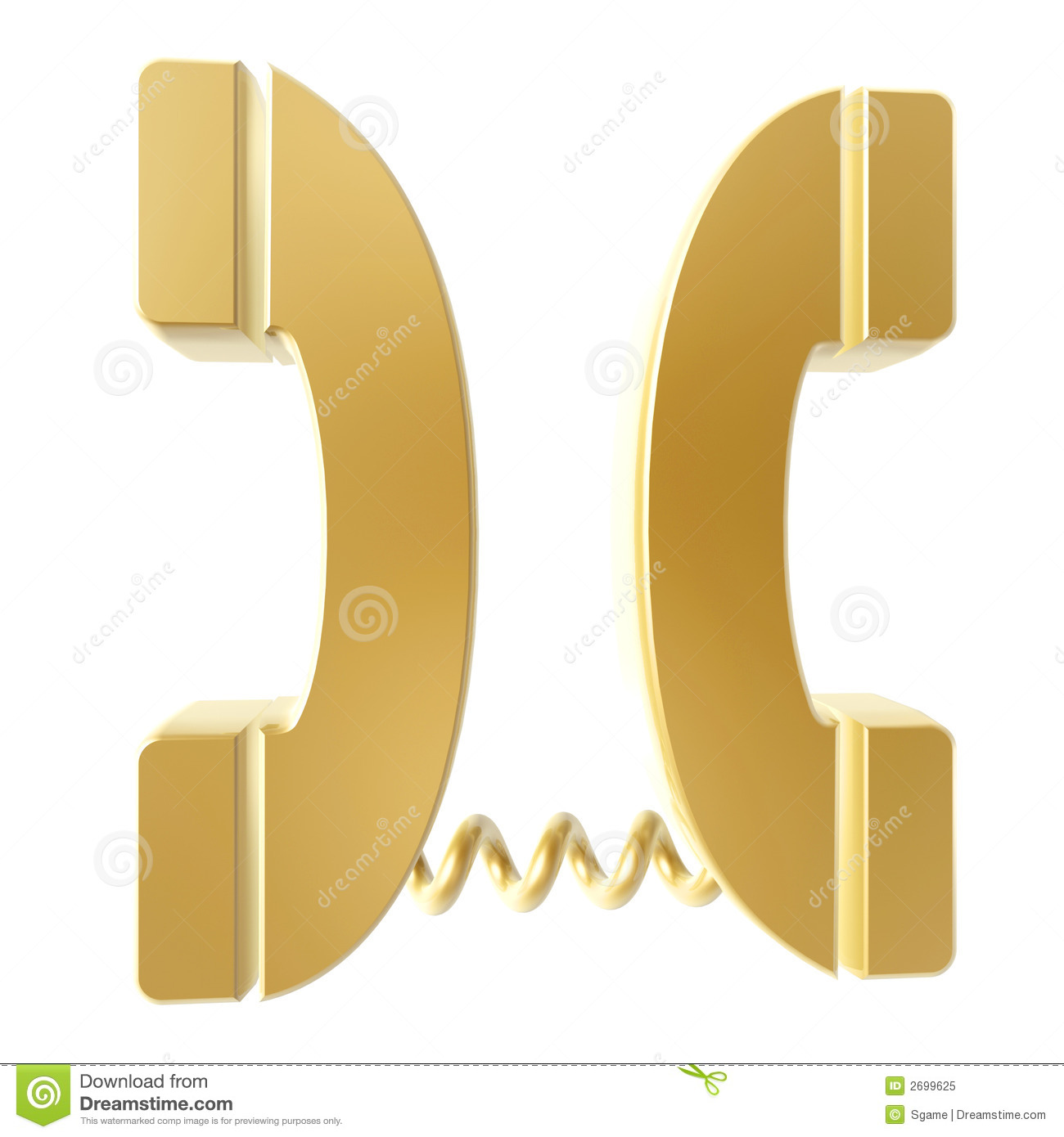 golden telephone connection royalty free stock photo