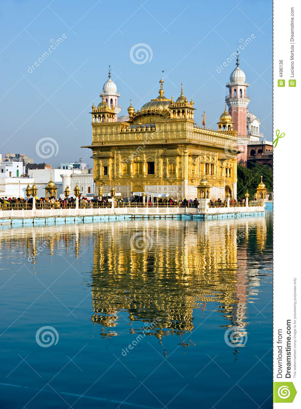 golden temple, amritsar. stock photo. image of culture - 4496136
