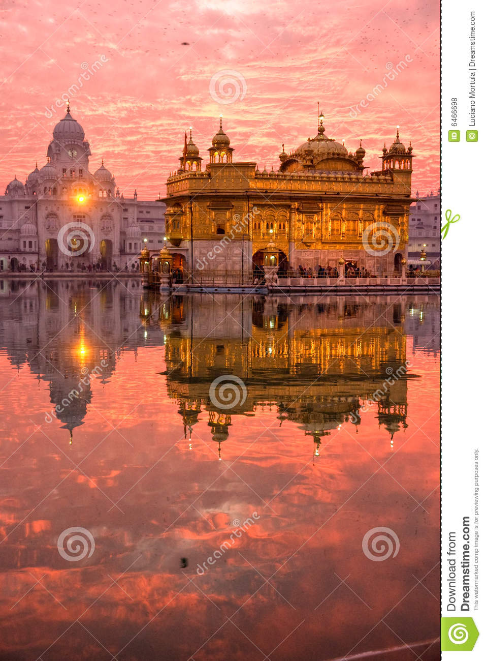 Golden Temple at sunset, Amritsar,