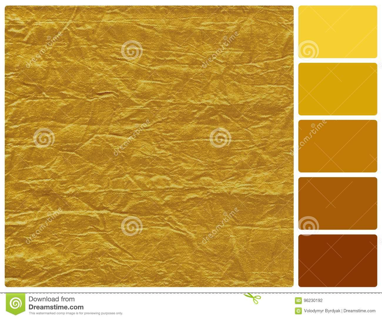 Golden Texture With Palette Color Swatches Stock Photo - Image of ...