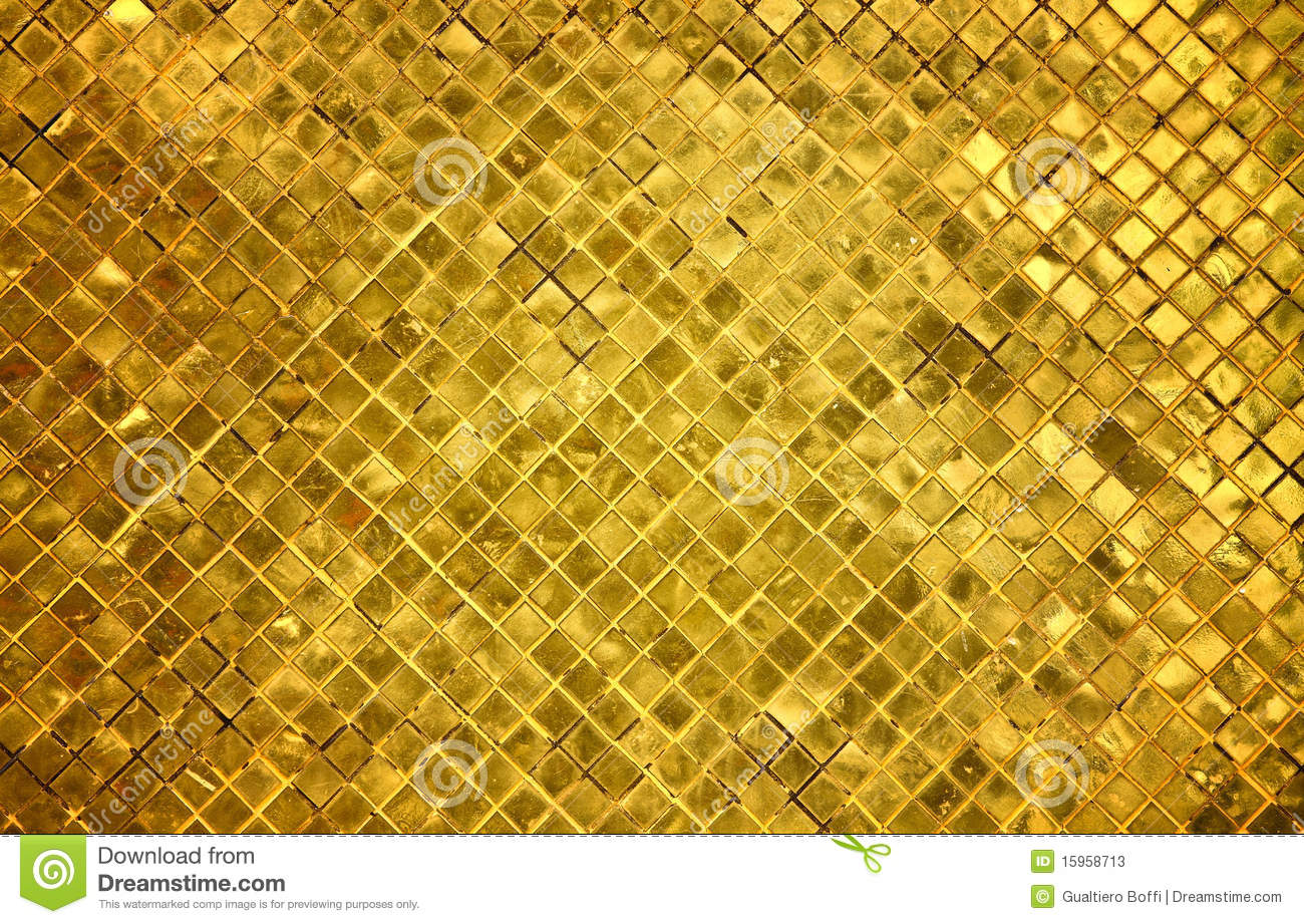 Golden Tiles Background Stock Image Image Of Surface