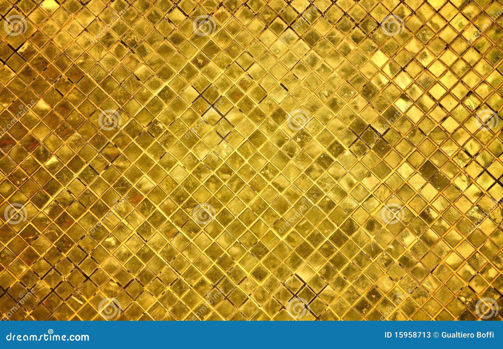 Golden Tiles Background Stock Photos - Image: 15958713
