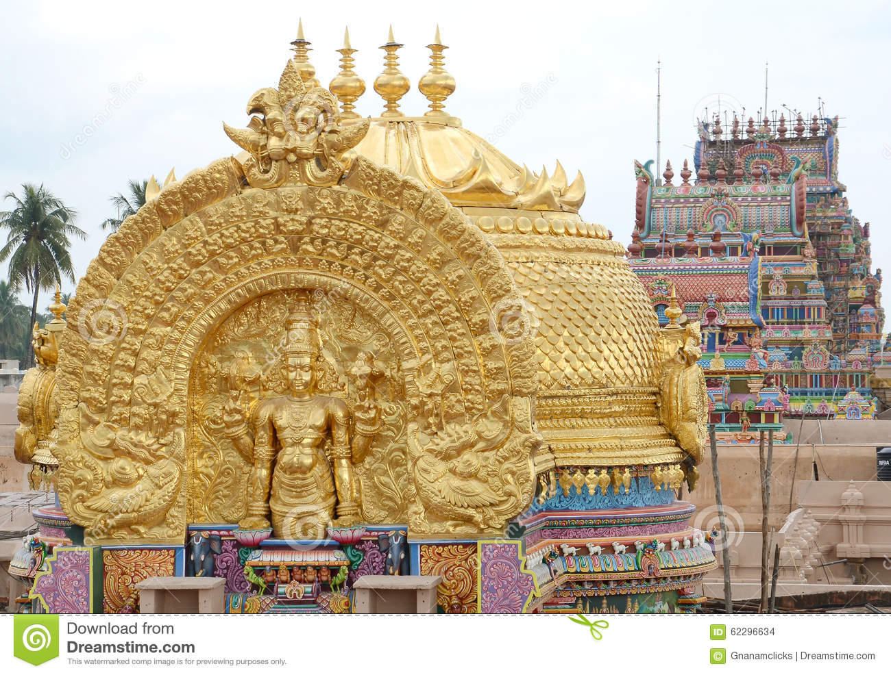 golden tower in srirangam temple stock photo image 62296634 vector ornaments for co2 laser vector ornaments word