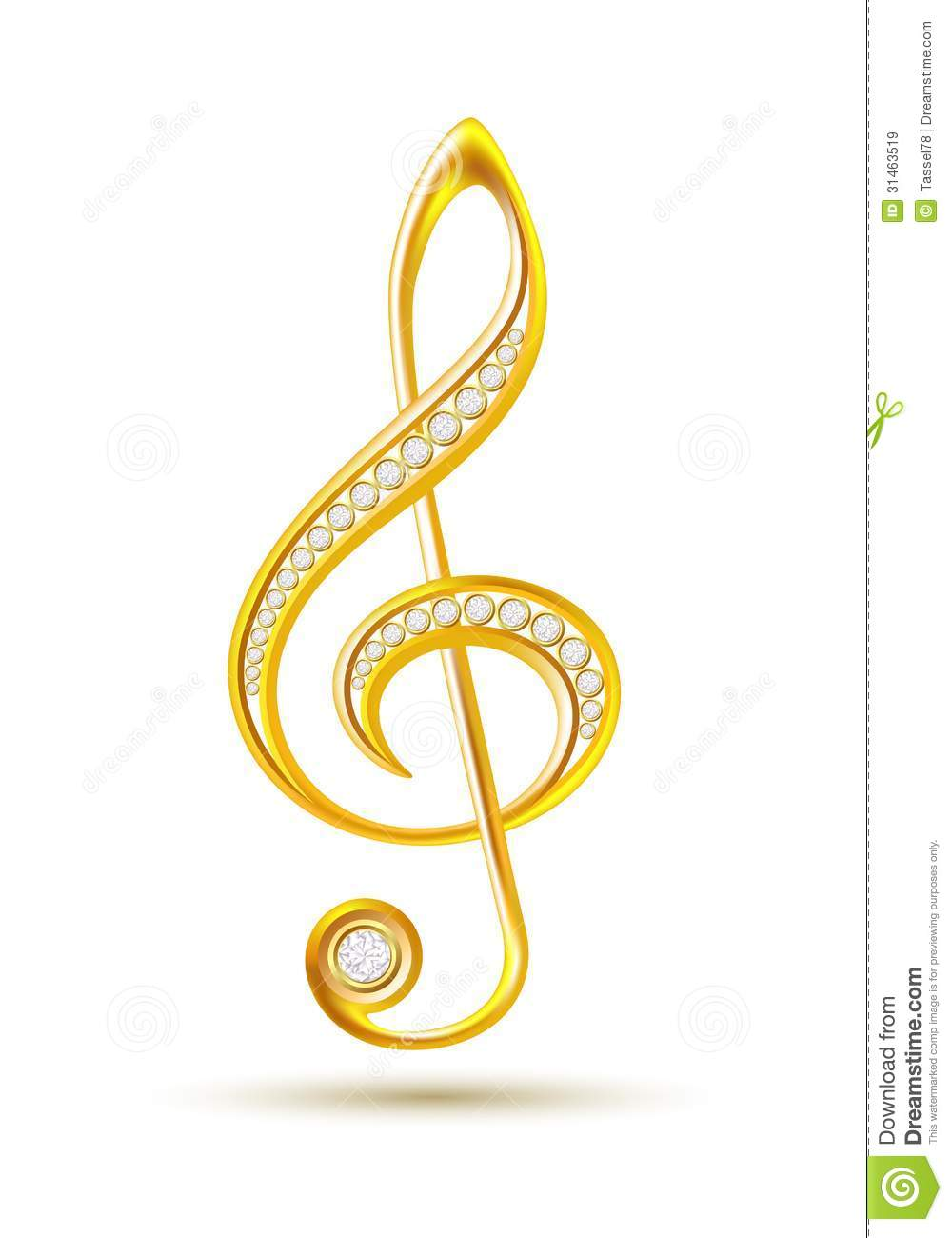 Musical notes staff background on white vector by tassel78 image - Royalty Free Stock Photo