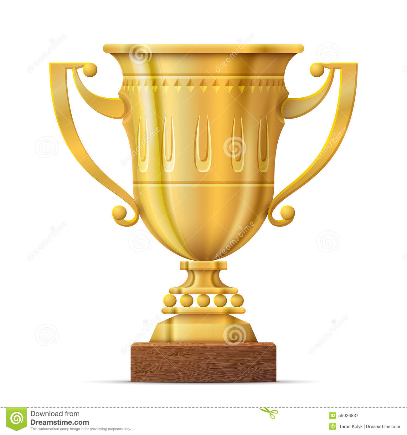 Golden Trophy Cup On White Background Stock Vector ...