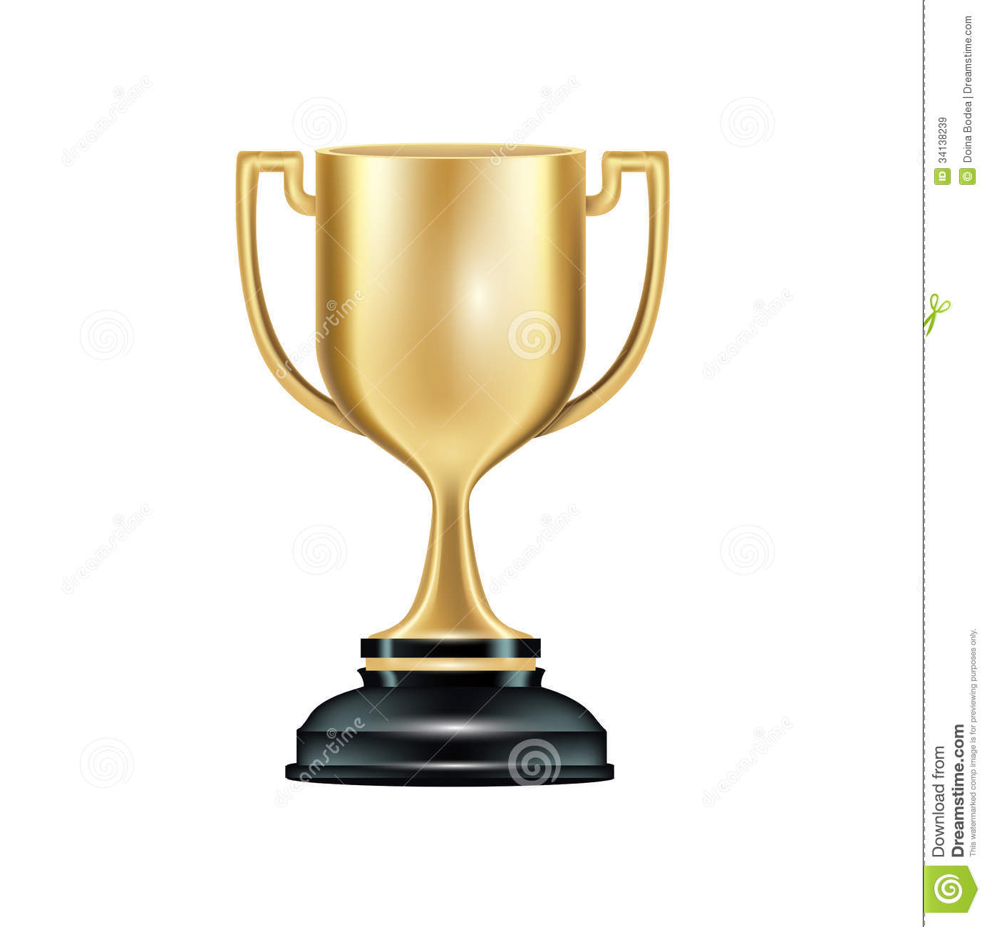 Golden Trophy Isolated On White Royalty Free Stock Images - Image ...