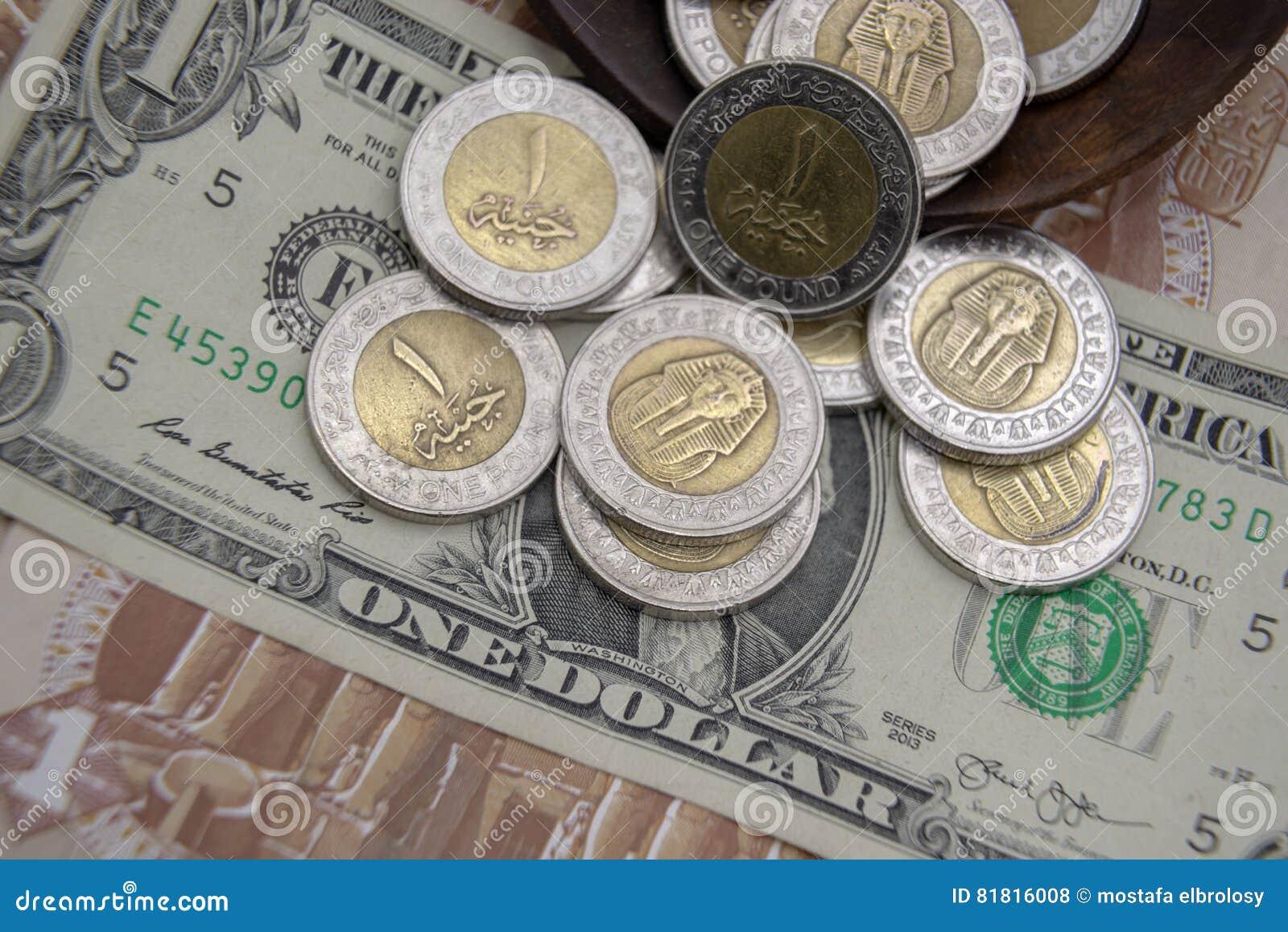 golden und versilbern sie die münzen 1 des ägyptischen pfunds