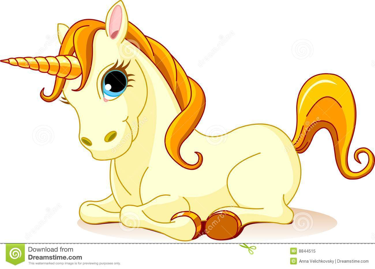 Golden Unicorn Royalty Free Stock Photo
