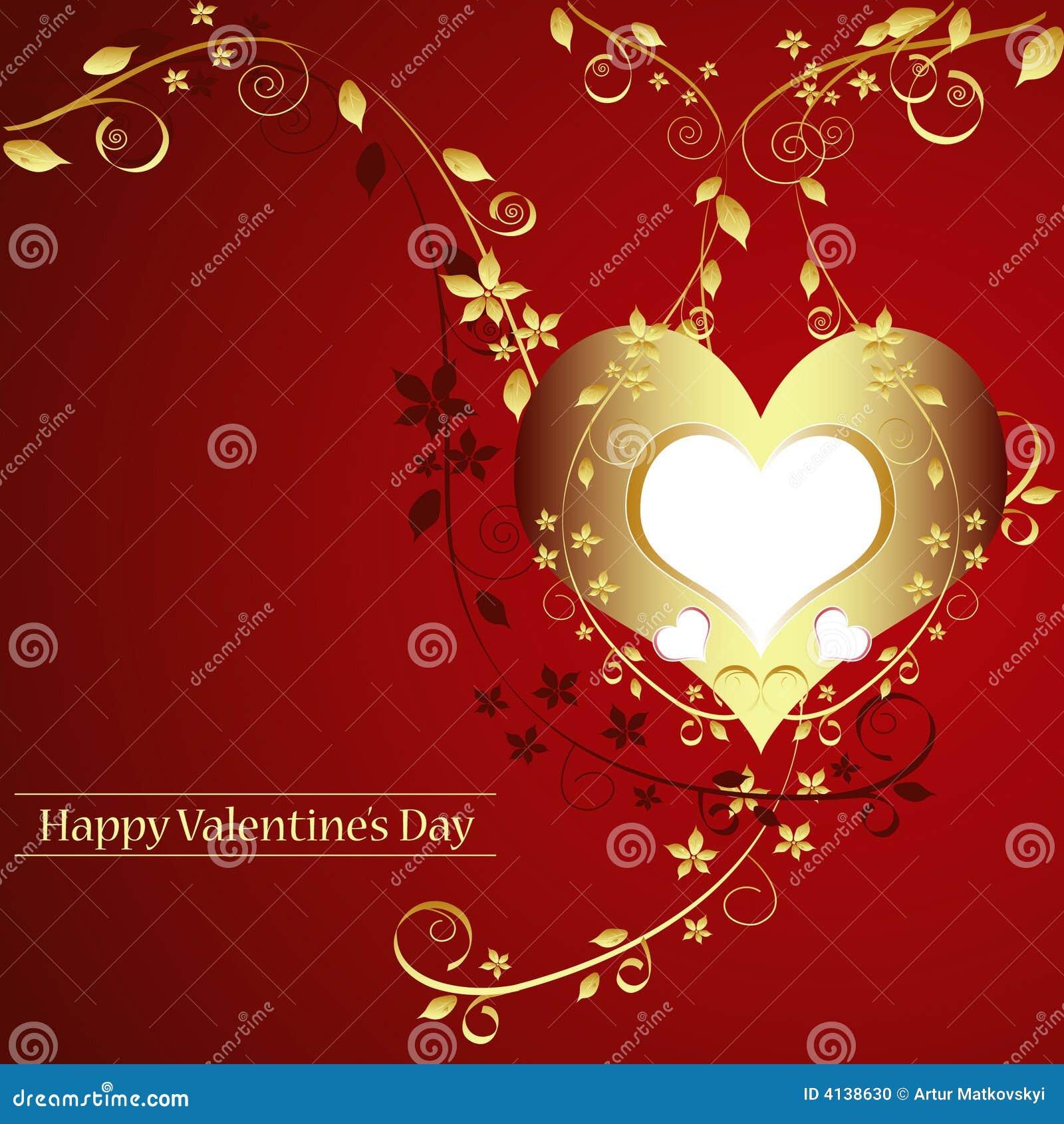 Golden Valentines Card Photo Image 4138630 – Valentine S Card