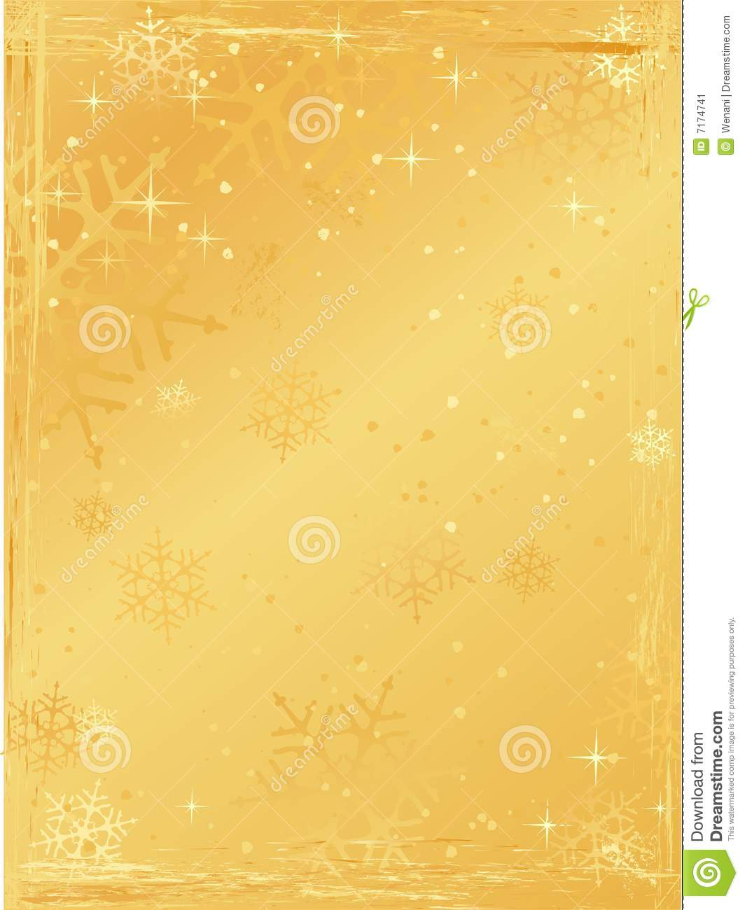 golden vertical grunge christmas background stock vector