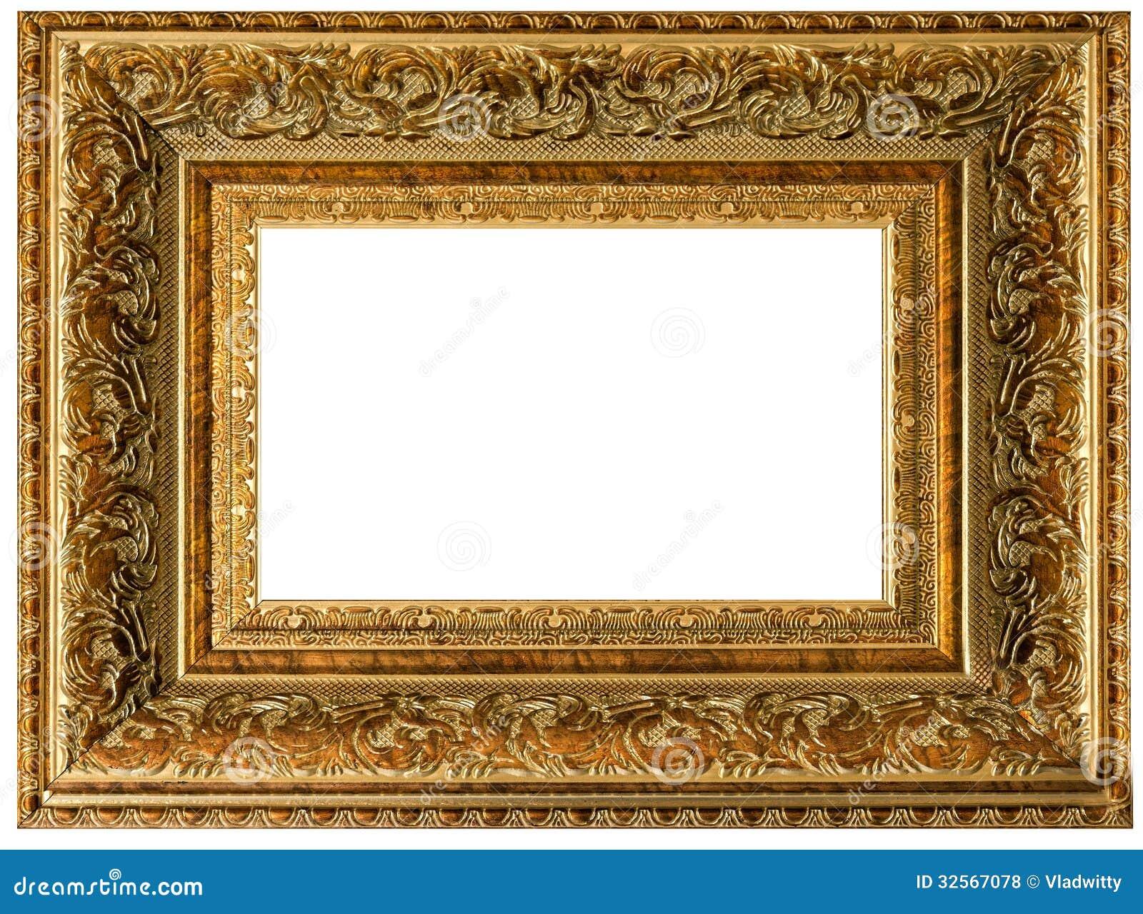 Golden Vintage Frame Empty Royalty Free Stock Photos
