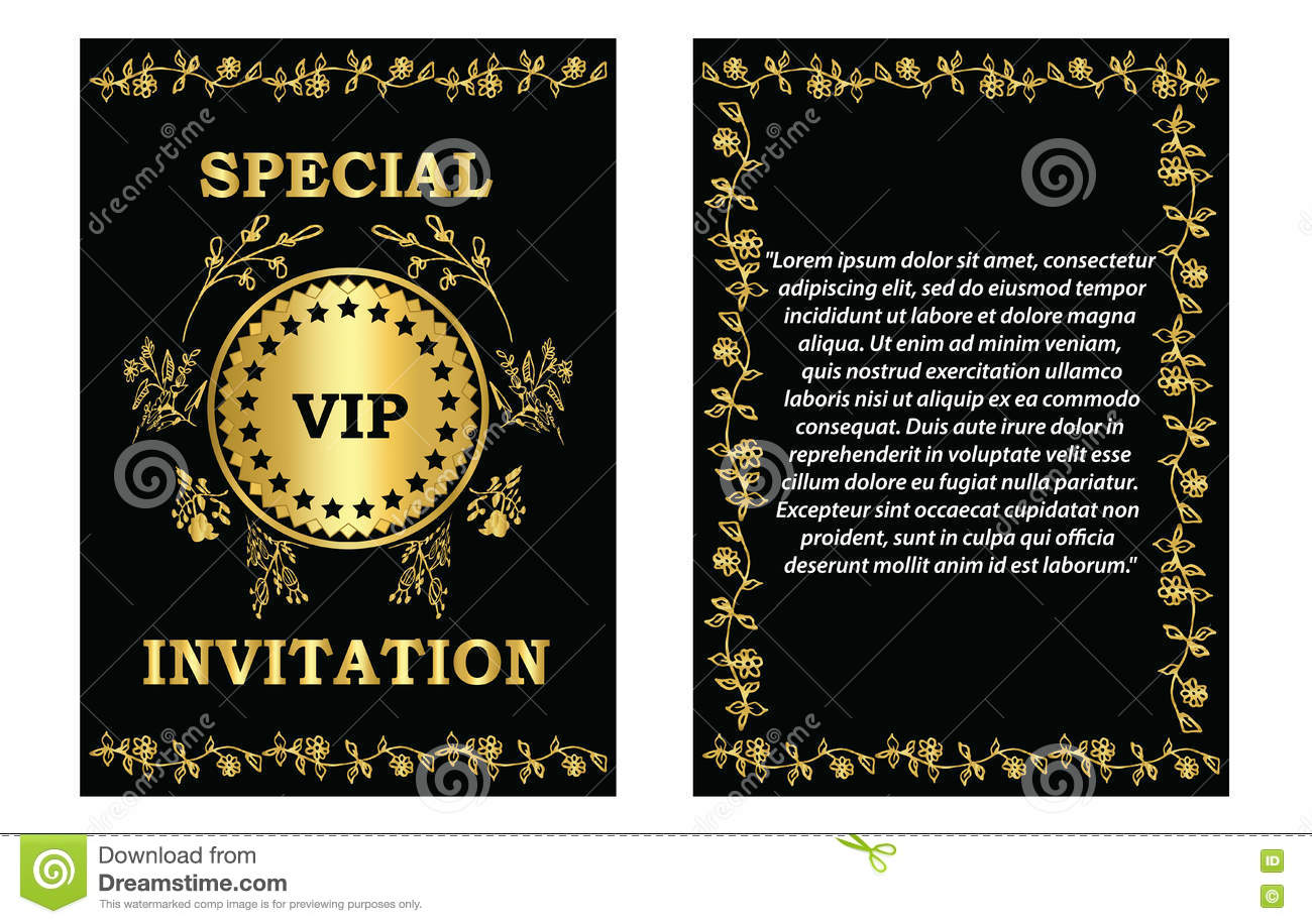 Vip invitation card template stock vector illustration 75085551 golden vip invitation template stock photography stopboris Image collections