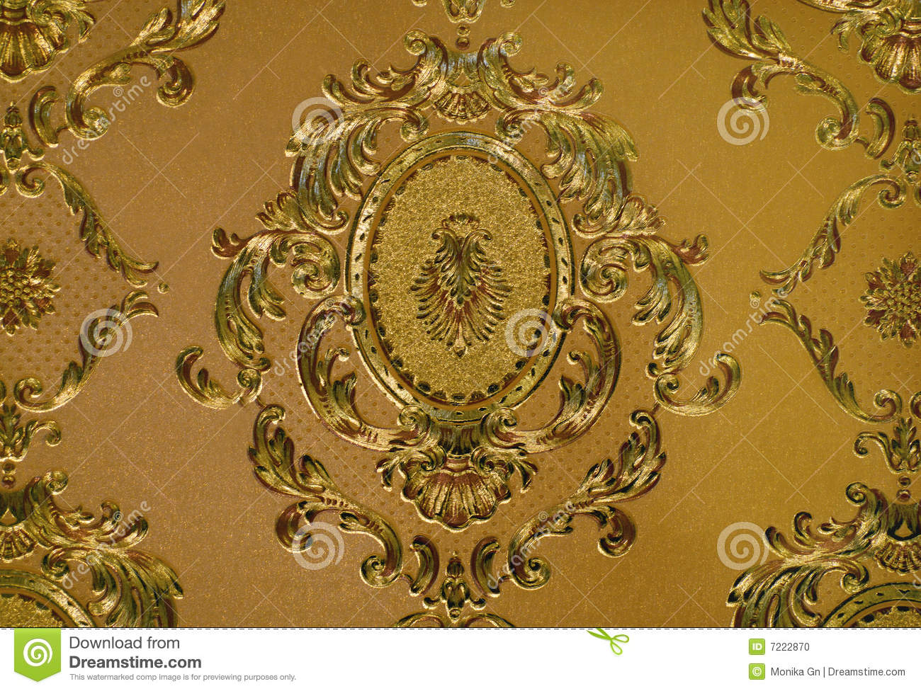 Golden Wallpaper Stock Photo Image 7222870