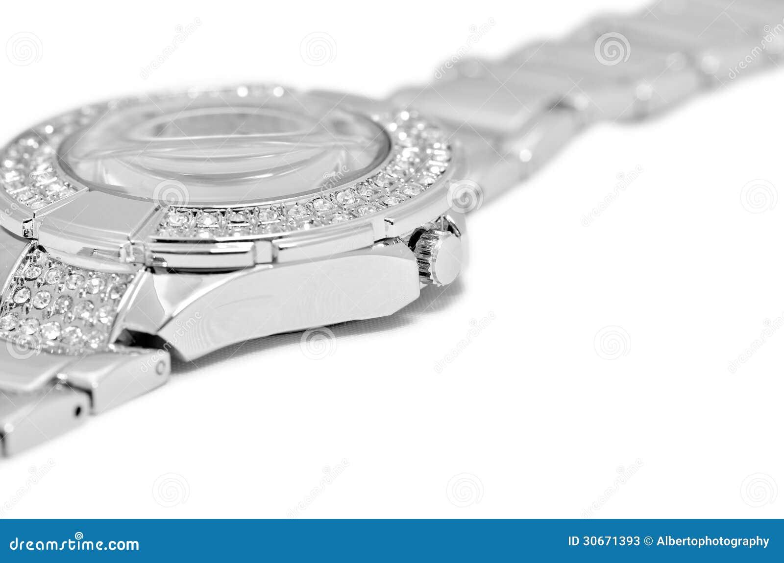 Silver watch detail