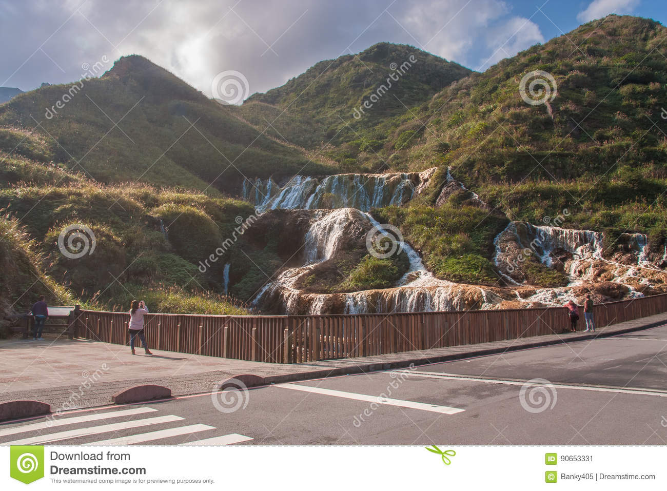 Golden Waterfall is one of the most beautiful waterfall in Taiwan
