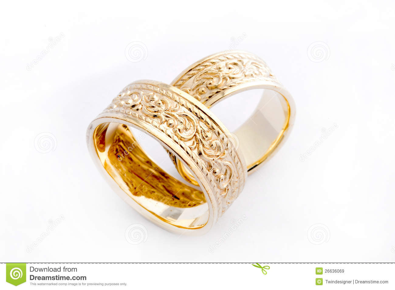 Golden Wedding Rings stock image Image of jewelry bridal 26636069
