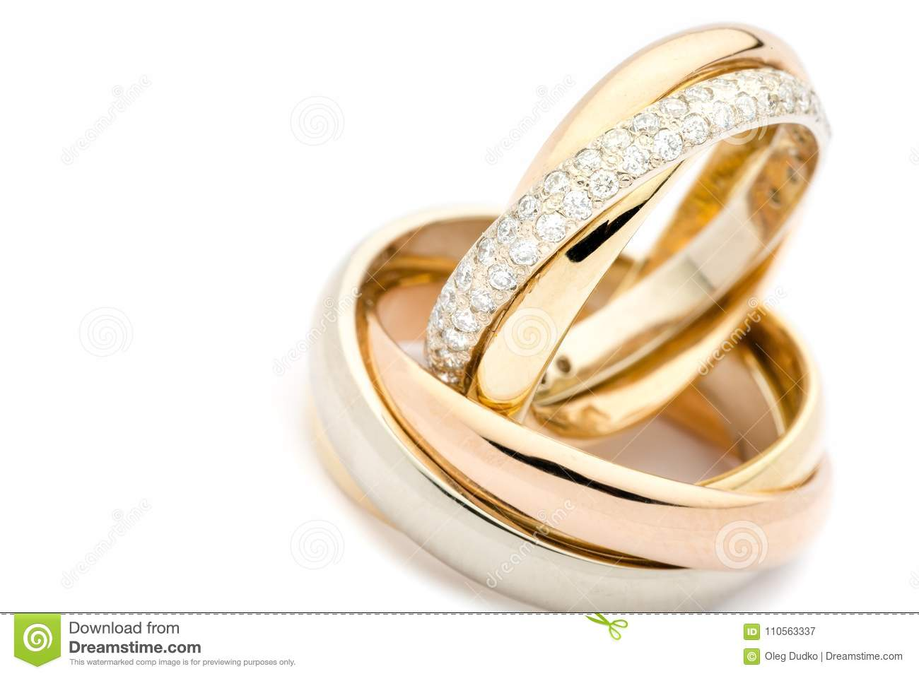 Golden Wedding Rings Closeup View Stock Image Image Of Marriage